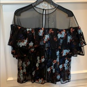 Beautiful embroidered floral blouse